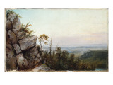 Rocks and Landscape Giclee Print by Frederic Edwin Church