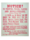 Vigilante Notice of 1882 Giclee Print by  American School