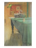 Brita at the Piano, 1908 Giclee Print by Carl Larsson