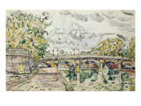 The Pont Neuf, Paris, 1927 Gicleetryck av Paul Signac