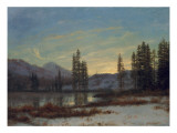 Snow in the Rockies Giclee Print by Albert Bierstadt
