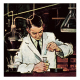 Chemist Using Litmus Paper Giclee Print by  English School
