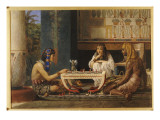 Egyptian Chess Players, 1868 Giclee Print by Sir Lawrence Alma-Tadema