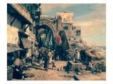 A Street Scene in Jaffa, 1890 Premium Giclee Print by Gustav Bauernfeind