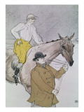 The Jockey Led to the Start Lámina giclée por Henri de Toulouse-Lautrec