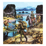 California Gold Rush Giclee Print by Ron Embleton