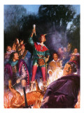 Robin Hood and His Merry Men Giclee Print by John Millar Watt