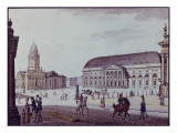 The Gerndarmenmarkt Giclee Print by F.A. Calau