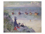 On the Dunes, Heyst Giclee Print by Théo van Rysselberghe
