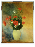 Poppies and Daisies, C.1913 Giclee Print by Odilon Redon