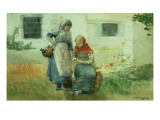 Picking Flowers, 1881 Giclee Print by Winslow Homer