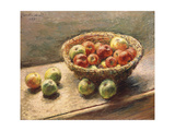 A Bowl of Apples, 1880 Giclee Print by Claude Monet