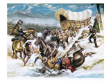 Accident on the Way Out West Giclee Print by Ron Embleton