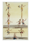 Mexicans Performing Gymnastics Giclee Print by Gallo Gallina