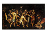 The Betrayal of Christ Gicl&#233;e-Druck von Luis de Vargas