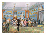 A Society Drawing Room, C.1830 Giclee Print by Karl Ivanovich Kolmann