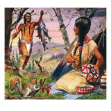 Hiawatha and Minnehaha Giclee Print by Robert Brook