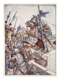 Bayard Defends the Bridge Giclee Print by Herbert Cole