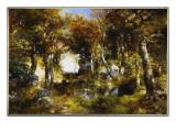 The Woodland Pool, 1909 Premium Giclee Print by  Moran