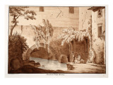 View of the Cloaca Maxima, 1833 Giclee Print by Agostino Tofanelli