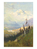 An Autumn Day, Mt. Mckinley Giclee Print by Sidney Laurence