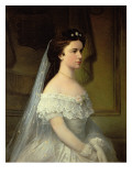 Elizabeth of Bavaria Giclee Print by  Austrian School