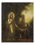 Christ and Mary Magdalene Lámina giclée por Moreau