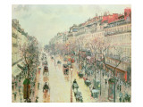 The Boulevard Montmartre, 1893 Giclee Print by Camille Pissarro