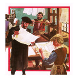 Early Printing Press Giclee Print by English School
