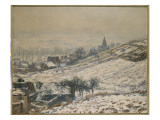 Winter in Giverny, 1885 Giclee Print by Claude Monet
