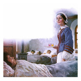 Florence Nightingale Giclee Print by Clive Uptton