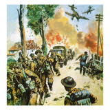 Retreat from Dunkirk Giclee Print by  English School