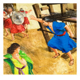 The Story of Samson Retold Giclee Print by Clive Uptton