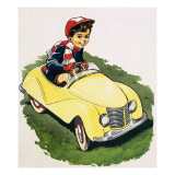 The Little Boy Who Loved Cars Giclee Print by  English School