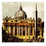 St Peter's Basilica Giclee Print by  English School