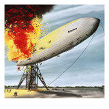 The Hindenburg Disaster Giclee Print by John Keay
