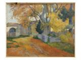 L'Allee Des Alyscamps Impression giclée par Paul Gauguin
