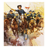 Charge of the Us Cavalry Giclee Print by McConnell