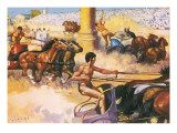 Race of the Four Horse Chariots Giclee Print by Alberto Salinas