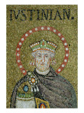 The Face of Justinian Giclee Print by  Byzantine School