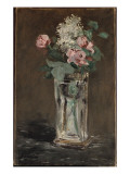 Flowers in a Crystal Vase Giclee Print by Édouard Manet