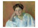 Portrait of Louisine Elder Giclee Print by Mary Cassatt
