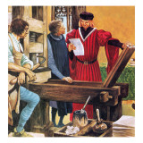 Caxton's Printing Press Giclee Print by Peter Jackson