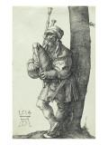The Bagpiper, 1514 Giclee Print by Albrecht Dürer