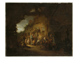 The Old Fiddler, 1641 Giclee Print by Adriaen Jansz. Van Ostade