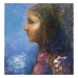 Profile: the Flag Giclee Print by Odilon Redon
