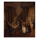 Dinner Table at Sanssouci, 1850 Giclee Print by Adolph von Menzel