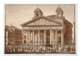 The Pantheon of Agrippa, 1833 Giclee Print by Agostino Tofanelli