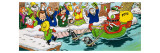 Mr Toad on a Sleigh at Christmas Giclee Print by  English School