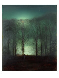 Figure in the Moonlight Premium Giclee Print by  Grimshaw